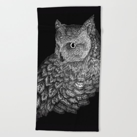 A Friend for Forsythe in Black Beach Towel