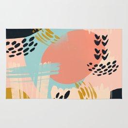 Brushstrokes abstract art Rug