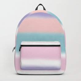 Cool mountain berry gradient stripes Backpack