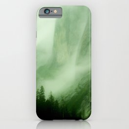 Midnight Mist Illuminated By Northern Lights iPhone Case