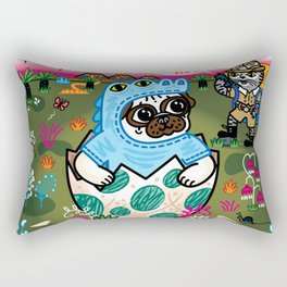 What Came First The Pug Or The Egg? Rectangular Pillow