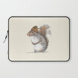 Squirrel with an Acorn Hat Laptop Sleeve