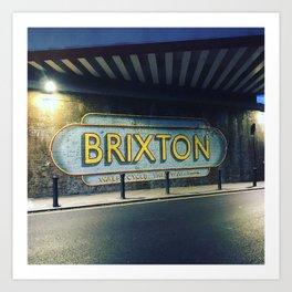 Brixton, south west London. Art Print