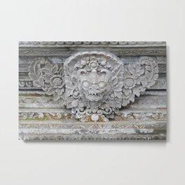 Stone Bali Statue Metal Print