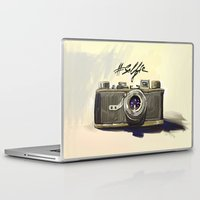 selfie Laptop & iPad Skins featuring Selfie by kaiartem