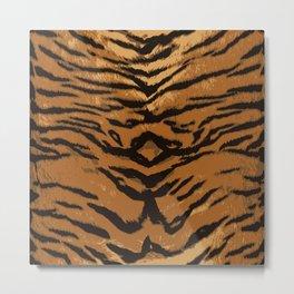 wild exotico tiger elements gold Metal Print