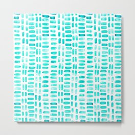 Abstract rectangles - turquoise Metal Print