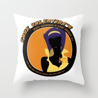cowboy bebop Throw Pillows featuring Bebop Faye by AngoldArts