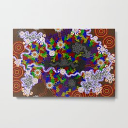 Authentic Aboriginal Art -  The Struggles of an Imperfect Mind Metal Print
