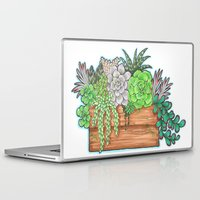 succulents Laptop & iPad Skins featuring Succulents by Little Lost Garden