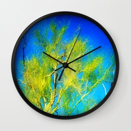 Lemon Lime Branches Wall Clock