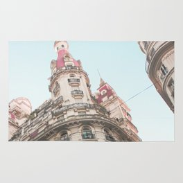 French Sky (Retro and Vintage Urban, architecture photography) Rug
