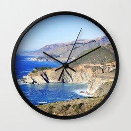 Bixby Creek Bridge in Big Sur Wall Clock