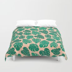Cheese Plant - Trendy Hipster art for dorm decor, home decor, ferns, foliage, plants Duvet Cover