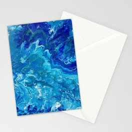 Dark Ocean Blue Stationery Cards