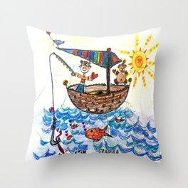 :: Row, Row, Row Your Boat :: Throw Pillow