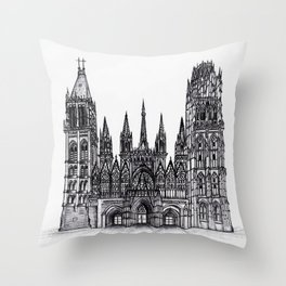Rouen Cathedral Throw Pillow
