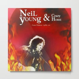 neil young fire 2021 Metal Print