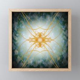 Gold filligree in space Framed Mini Art Print