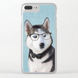 Mr Husky Clear iPhone Case