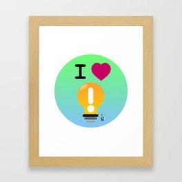 I Love Ideas Framed Art Print