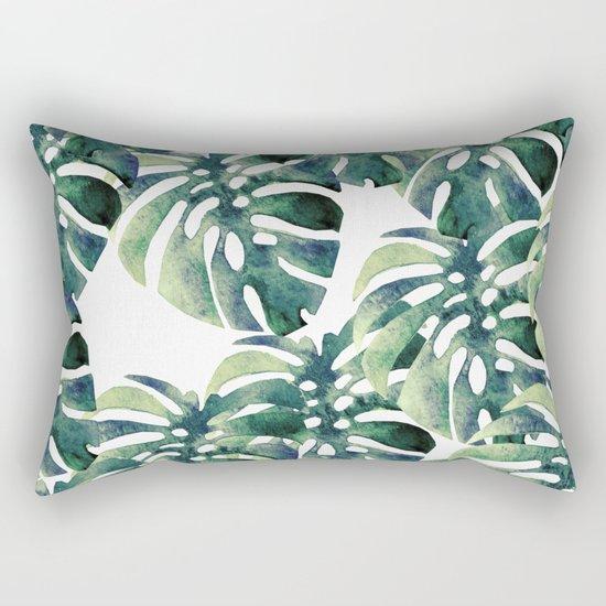 Monstera Pattern Rectangular Pillow