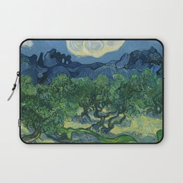 Olive Trees with the Alpilles in the Background by Vincent van Gogh (June 1889) Laptop Sleeve