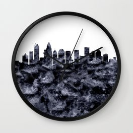 Charlotte Skyline North Carolina Wall Clock