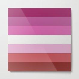 Lesbian Flag Metal Print