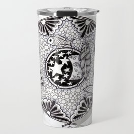 Zentangle Dreamcatcher Travel Mug