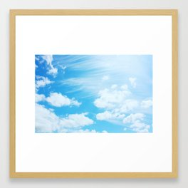 Cotton Candy Clouds Framed Art Print