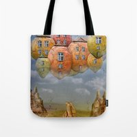 home sweet home Tote Bags featuring Sweet Home by teddynash