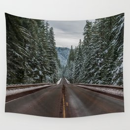 Winter Road Trip - Pacific Northwest Nature Photography Wall Tapestry