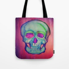 Watercolor skull/Blue Tote Bag