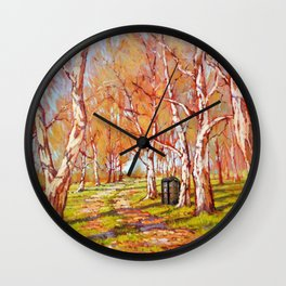 Tardis Art At The Tree Forest Wall Clock
