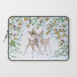 Cute Watercolor Deer Laptop Sleeve