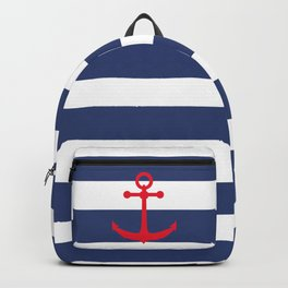 AFE Nautical Red Ship Anchor Backpack