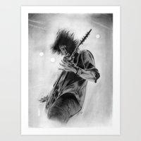dave grohl Art Prints featuring Dave Grohl by Chris Lewis