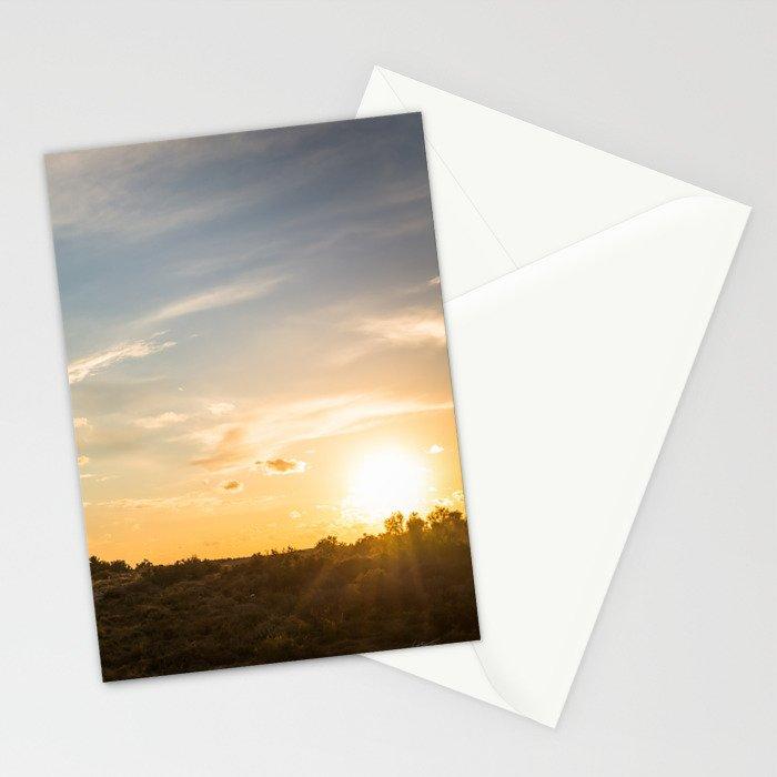 Ocaso en la marisma Stationery Cards