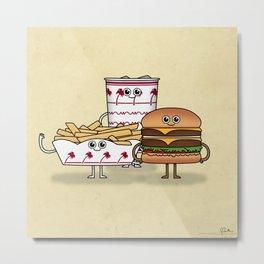 BFF: Meal Deal Metal Print