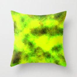 Stained Glass Camo -- BioHazard Throw Pillow