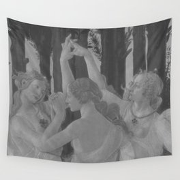 Black White Primavera Wall Tapestry