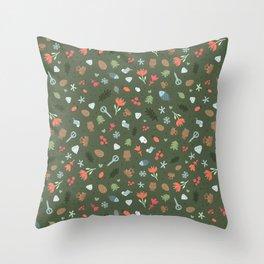 Ethnic Yakutian pattern Throw Pillow