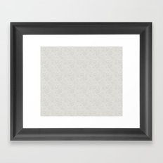 Dancing Snowflakes Pattern Framed Art Print