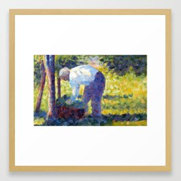 Georges Seurat The Gardener Framed Art Print