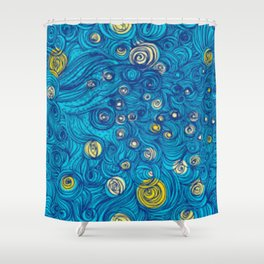 Modern painted art piece Shower Curtain