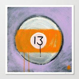 "13 (2011), 17"" x 17"", acrylic on gesso on chipboard Canvas Print"