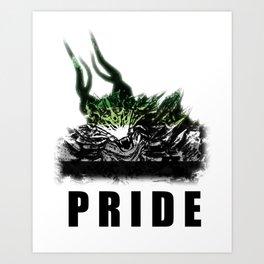 Aromantic Pride Demon Art Print
