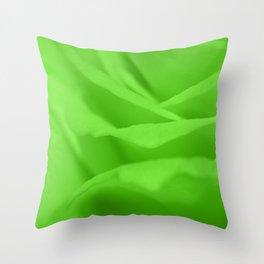 Lime Green Silk Effect Throw Pillow