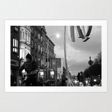 Waiting.. [Black & White] Art Print